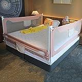 Baby Bettgitter, Verstellbares Rausfallschutz beim Schlafen Sicherheit Schutz Barriere, für...