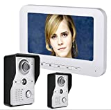 OPARYY 7 Zoll verdrahtete Video-Tür-Telefon-Türklingel-Wechselsprechanlage-Installationssatz-2...