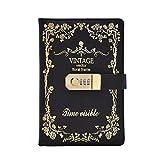 Huachaoxiang Tagebuch Mit Schloss, Passwort-Notizbuch, Vintage-Tagebuch Mit Schloss Tagebuch A5...