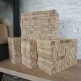 30 kg Eiche Anmachholz (Neue Version 2020) – Sehr sauber und trocken – Perfektes Anfeuerholz...