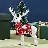 LoveLeiter-Weihnachten Elk Plüsch Simulation Deer Neujahr Dekoration Startseite Ornamente Figuren...