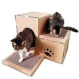 TWFY Kratztonnen für Katzen Gewölbtes Papier Cat House Corrugated Katze Kratz Katze Scratcher...