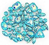 BrillaBenny 50 Strass-Steine in Kastanienbraun zum Annähen Jelly Candy Kristalle CABOCHON...