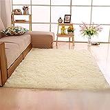DGHJK Teppiche Wohnzimmer Beige, Fluffy Teppich Schlafzimmer Teppiche Lange Haare Verdickung...