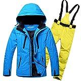 Outdoor Skianzug Herrenanzug Winddicht Wasserdicht Warm Atmungsaktiv Furnier Doppel Snowboardhose...
