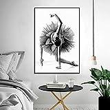 wukongsun Moderne Kunst Poster schöne Tanz balletttänzerin leinwand malerei Bild Schlafzimmer...