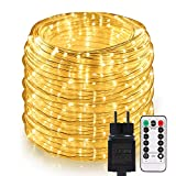Lichterschlauch Auen GREEMPIRE 336 LEDs 20M 3000K strombetrieben Lichterkette mit Fernbedienung,...