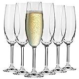Krosno Sektgläser Champagner-Gläser Sektflöten | Set von 6 | 200 ML | Venezia Kollektion |...