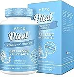 Keto Vital Keto Burn Support Fatburner, schnell Abnehmen + Diät-Booster, vegan mit Apfelessig und...
