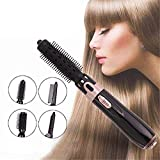 4 in 1 Multifunktions Fön Comb Warmluft-Styler, Haar-Kamm beweglicher Curling Glattes...