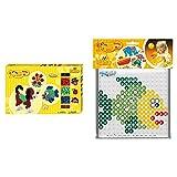 Hama Perlen 8712 Geschenkbox mit ca. 900 bunten Maxi Bügelperlen mit Durchmesser 10 mm & 8283...