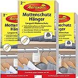 Aeroxon Mottenschutz-Hänger - 3x2 Stück - Verlässliche, starke und schnelle Mottenfalle gegen...
