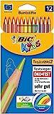BIC Kids Tropicolors 2, 12er Set Kinder-Buntstifte, Malstifte ab 5 Jahre, Bruchsichere Mine & ohne...