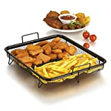 GOURMETmaxx Grillkorb Heißluft für Backofen (Edelstahl-Grillkorb für fettarmes Heißluft-Garen im...