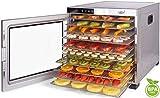 Dörrautomat Edelstahl Vita5 Nobel PRO • 24 Stunden Timer • LED Bedienfeld für Temperatur &...