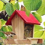 Ablerfly Vogelfutterhaus aus Holz Wildvogelhäuschen Vogelhäuschen im Freien Regenfest Balkon Villa...