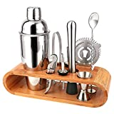 Barkeeper Set - Cocktail-Shaker Set Cocktail Zubehör 10-teiliges Bar Tool Set mit schlankem...