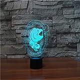 orangeww 3d fisch form led tischlampe mit usb power touch angeln nachtlicht taschenlampe atmosphäre...