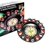 Roulette Trinkspiel Partyspiel mit Drehrad 16 Schnapsgläsern und 2 Kugeln Roulettespiel für Partys...