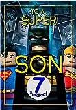 Geburtstagskarte für den Sohn zum 7. Geburtstag, Motiv: Batman Lego, Innenseite in voller Farbe