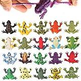 Spielzeuge in Form von Frosch, Minifrosch-Set aus Gummi (12 Packungen), lebensmittelgeeignetes...