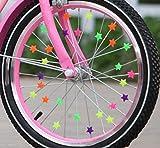 80x Bunte Sterne – Fahrrad Speichen Deko 20mm Sterne zum anclipsen für Kinder & Erwachsene...