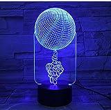 Coole Geschenk Rotation Basketball 3D Led Lampe 7 Farbwechsel Usb Nachtlicht Schreibtischlampe...