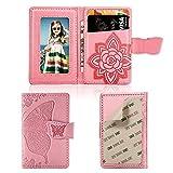 mEUPZZK Handy-Geldbörse, dünn, 3M-Klebe-Kreditkarten-Halterung, zum Aufkleben von...