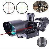 MUJING Zielfernrohr 2,5-10x40 Rot Grün Beleuchtete Mil-Dot-Pistolen-Zielfernrohre für taktisches...