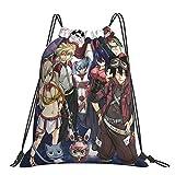 Bags Edens Zero Rucksack mit Kordelzug, Sporttasche, für Damen, Herren, Mädchen, Outdoor, Yoga,...