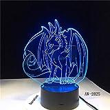 Beliebtes neues Pokemon-Spiel Eevee Family Series 3D Tischlampe USB Cartoon Nachtlicht LED...