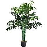 Giantex Kunstbaum, Zimmerpalme Kunstpalme mit Topf, Farnpalme künstlich Kunstpflanze Zimmerpflanze...