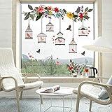Schne Blumenrebe Vgel Home Decor Birdcage Wandaufkleber Aufzucht Vogel In Home Kreative Wandposter...