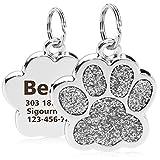 TagME Personalisierte Hundemarke/Edelstahl Hundemarke mit eingraviertem Namen und...