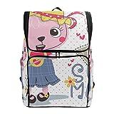 Mokale Cartoon niedlichen Kaninchen tragen Sommerkleid,Rucksack Rucksack Reisetasche Wanderrucksack...