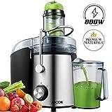 Entsafter AICOK 75mm Wide Mouth Entsafter ganzes Obst und Gemüse Easy Clean, 800W Schnell...