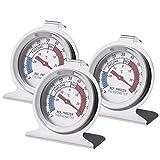 EMSea 3 Stück Kühlschrank-Thermometer, doppelt, für Gefrierschrank, Fahrenheit -20 bis 80 und...
