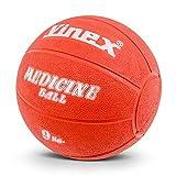 Schwerer Gummimedizinball mit Ventil, 9 kg