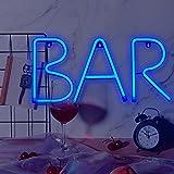 Bar Neon Schild Neon Buchstabe Cocktail Schild Bar LED Leuchtschild LED Wort Schild Wand Dekor für...