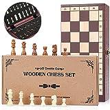 Peradix Schachspiel aus Holz, Schach klappbar Schachbrett 29x29cm - Handgefertigt Schach Set für...