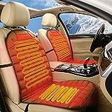 Zxcvanm Beheizbare Sitzauflage mit Rückenstützung,Heizbare Sitzauflage 12V Beheizte Sitzauflage...