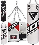 RDX Boxsack Set Gefüllt MMA Kickboxen Muay Thai Boxen mit Stahlkette Training Handschuhe Kampfsport...