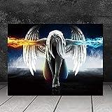 Hechuyue Wandkunst leinwand malerei Bild drucken Engel und Teufel Dekoration Poster leinwand malerei...