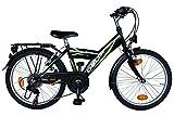 Kinderfahrrad 20 Zoll DELTA Fahrrad 6 Gang Shimano Schaltung StVZO tauglich schwarz/grn