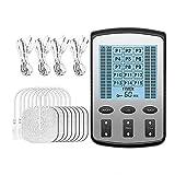 LABYSJ TENS Schmerzlinderung Elektrostimulator, wiederaufladbare Pulselektrodenmassage, 4...