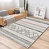 HXJHWB Teppich Flachflor Inspiration mit Geometrischen Muster - Büro einfache geometrische...
