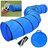 Yaheetech Hundetunnel Spieltunnel Training Tunnel Agilitytunnel 546 x 60 cm mit Erdngel und...