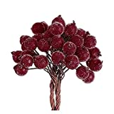 LNSTORE 40 Teile/blumenstrauß künstliche Beeren lebendige rote Holly Beeren schöne gefälschte...