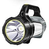 Leistungsstarke wiederaufladbare LED-Taschenlampe Tragbarer Handscheinwerfer Superhelle Taschenlampe...