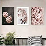 dubdubd Leinwand Malerei Rosa Blumen PosterStil Bilder Hd-Drucke Home Wandkunst Minimalist...